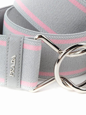 Prada: belts online - Striped elasticated belt
