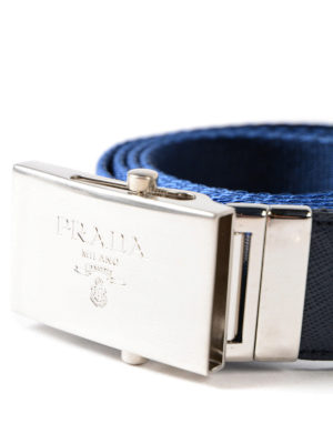 Prada: belts online - Striped web double belt