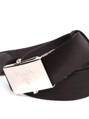 Prada: belts online - Two tone gros grain belt