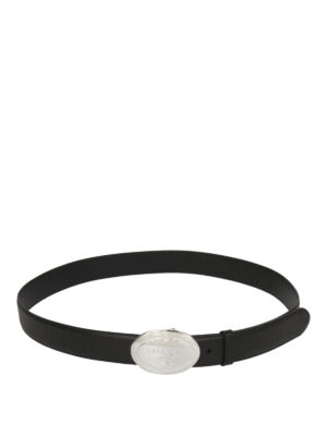 Prada: belts - Plaque saffiano leather belt