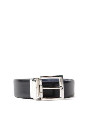 Prada: belts - Reversible calfskin saffiano belt
