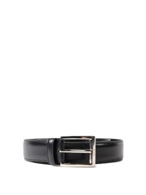 Prada: belts - Silver-tone buckle leather belt