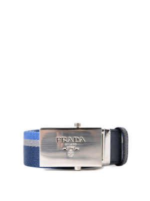 Prada: belts - Striped web double belt