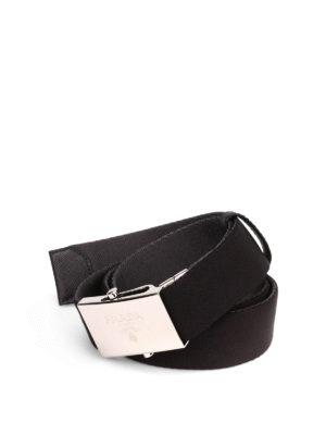 Prada: belts - Two tone gros grain belt
