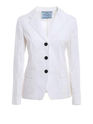 Prada: blazers - Cotton polplin blazer