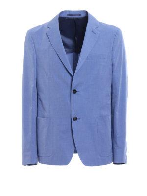 Prada: blazers - Light blue cotton blazer