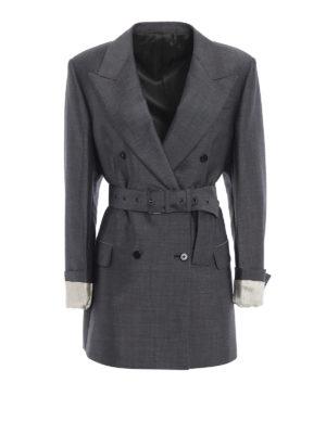 PRADA: giacche blazer - Elegante blazer doppio petto in mohair e lana