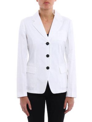 Prada: blazers online - Cotton polplin blazer
