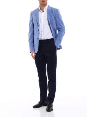Prada: blazers online - Light blue cotton blazer