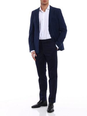 Prada: blazers online - Wool blend micro check blazer