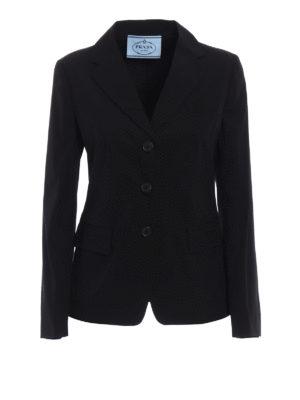 Prada: blazers - Stretch poplin blazer