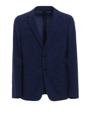 Prada: blazers - Wool blend micro check blazer