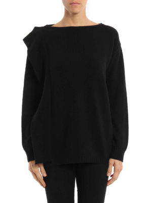 Prada: boat necks online - Wool and cashmere frilled sweater