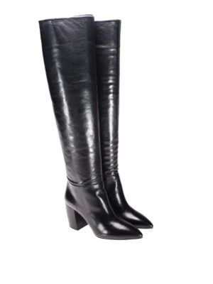 Prada: boots online - Leather slip-on boots