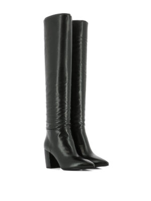 Prada: boots online - Soft leather heeled boots
