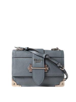Prada: bowling bags - Cahier leather bowling bag