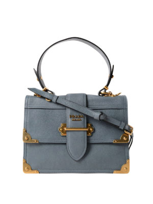 Prada: bowling bags - Cahier leather satchel