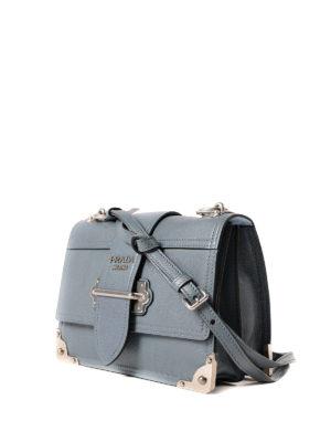 Prada: bowling bags online - Cahier leather bowling bag