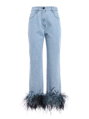 Prada: Boyfriend - Feather ankles boyfriend jeans