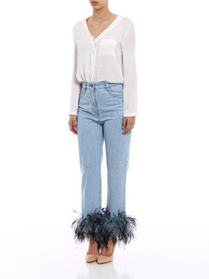 Prada: Boyfriend online - Feather ankles boyfriend jeans