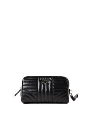 Prada: Cases & Covers - Black soft quilted napa pouch