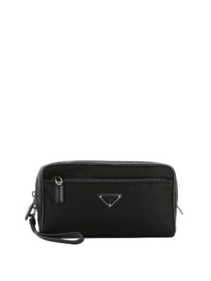 Prada: Cases & Covers - Leather piping nylon beauty case