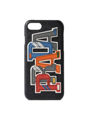 Prada: Cases & Covers - Multicolour logo iPhone 7 case