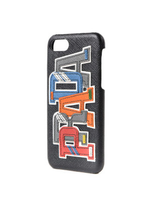 Prada: Cases & Covers online - Multicolour logo iPhone 7 case