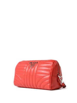 Prada: Cases & Covers online - Red soft quilted napa pouch