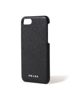 Prada: Cases & Covers online - Saffiano black iPhone 7 cover