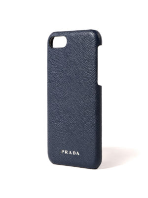 Prada: Cases & Covers online - Saffiano blue iPhone 7 cover