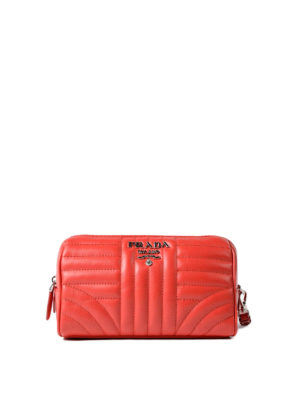 Prada: Cases & Covers - Red soft quilted napa pouch