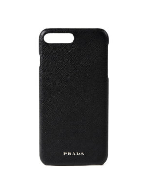 Prada: Cases & Covers - Saffiano black iPhone 7 plus cover