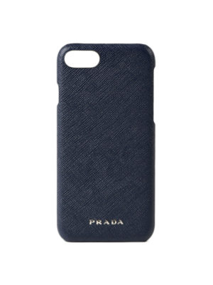 Prada: Cases & Covers - Saffiano blue iPhone 7 cover