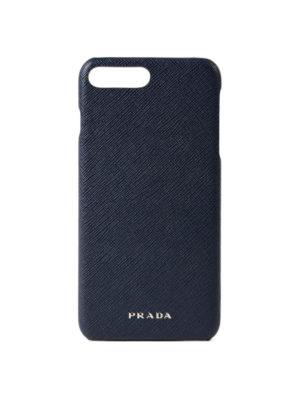 Prada: Cases & Covers - Saffiano blue iPhone 7 plus cover