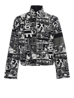 PRADA: giacche casual - Giubbotto in cotone stampa Comics