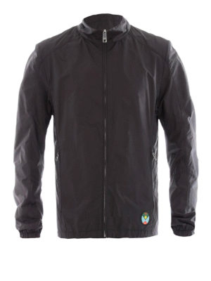 Prada: casual jackets - Double face black nylon jacket