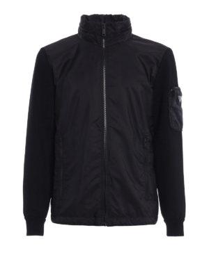 Prada: casual jackets - Nylon and jersey sporty jacket