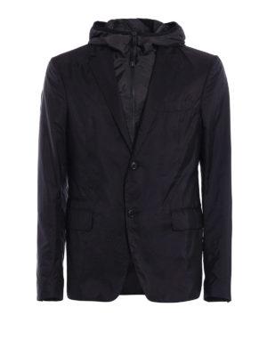 Prada: casual jackets - Nylon Piuma double front blazer