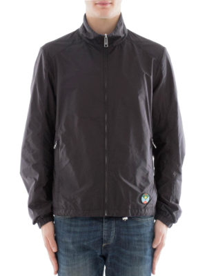 Prada: casual jackets online - Double face black nylon jacket