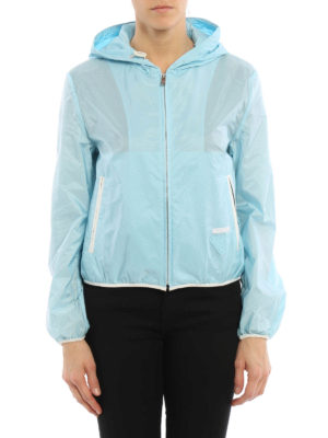 Prada: casual jackets online - Lightweight nylon crop jacket
