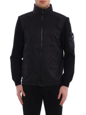 Prada: casual jackets online - Nylon and jersey sporty jacket
