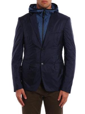 Prada: casual jackets online - Nylon Piuma double front blazer