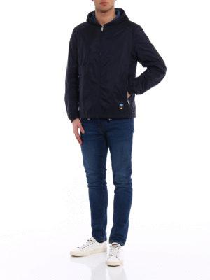 Prada: casual jackets online - Reversible dark blue hooded jacket