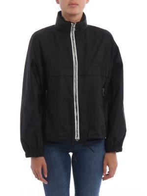 Prada: casual jackets online - Semiglossy nylon jacket