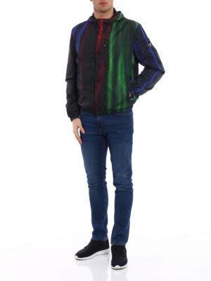 Prada: casual jackets online - Shimmering nylon windbreaker