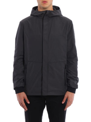 Prada: casual jackets online - Shimmering technical fabric jacket