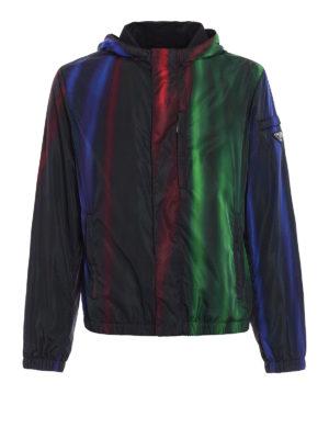 Prada: casual jackets - Shimmering nylon windbreaker