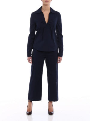Prada: casual suits online - Pyjama-style cotton poplin suit