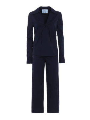 Prada: casual suits - Pyjama-style cotton poplin suit